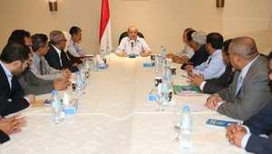 جانب من اجتماع الحكومة اليمنية الثلاثاء برئاسة عبدربه منصور هادي