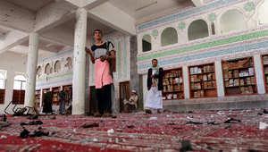 عشرات الضحايا بتفجير مزدوج استهدف مسجداً بصنعاء