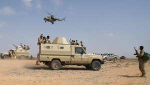 قوات يمنية مشاركة في العمليات ضد الجماعات المسلحة بشبوة