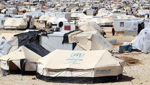 منظر عام لمخيم الزعتري للاجئين السوريين في الأردن