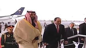 ولي عهد السعودية يصل القاهرة بأول جولة خارجية له