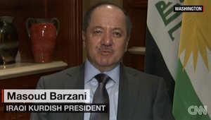 رئيس إقليم كردستان لـCNN: استعادة الموصل من داعش ممكنه خلال أشهر قليلة قادمة
