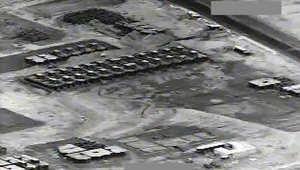 بالفيديو.. غارات التحالف على مواقع لداعش في تكريت