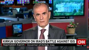 محافظ كركوك لـCNN: داعش ليس مجنونا وقيادييه أعضاء سابقون بحزب البعث ينفذون أوامر أعطاها صدام حسين بـ2002 للتغلغل بالتنظيمات الإرهابية