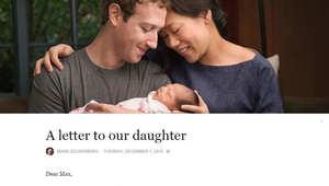 """لماذا أسمى زوكربيرغ ابنته """"ماكس""""؟ إليكم السبب.."""