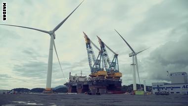 شاهد أول محطة عائمة لطاقة الرياح البحرية بالعالم