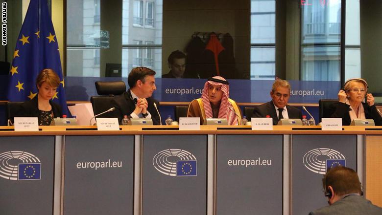 الجبير في البرلمان الأوروبي: قطر ليست باريس سان جيرمان.. وطلبنا بسيط