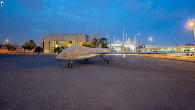 """السعودية تكشف عن طائرة """"صقر1"""" المتطورة دون طيار  Saqr-2"""