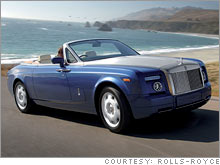 The Rolls-Royce Phantom Drophead Coupe, set to be unveiled at the Detroit auto show.