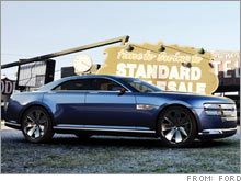 Ford S Interceptor A Mustang Based Concept Car Mates 400 Hp Engine And Solid Rear Axle With Four Doors