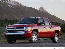 GM posted weaker than expected sales of its new line of pickup trucks.