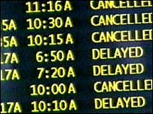 Flight delays reached record levels in 2006, according to a report.