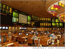 Legalized sports gambling, such as this sports book at the Mirage casino, is the least of the problems that Vegas will have attracting a pro sports team.