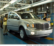 The Chrysler assembly line in Newark, Del., one of the UAW-represented plants slated for closure by Chrysler.