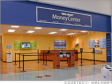 wal mart plans to have a moneycenter in one out of every four stores by 2008 the company currently operates more than 4000 discount and supercenter stores