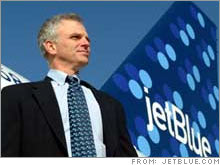 JetBlue founder David Neeleman said he's comfortable in his new role as non-executive chairman, but said his loss of the CEO job was abrupt and traumatic for the company.