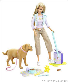 675,000 units of various Barbie accessory toys sold between October 2006 through August 2007 were named in Mattel's recall.