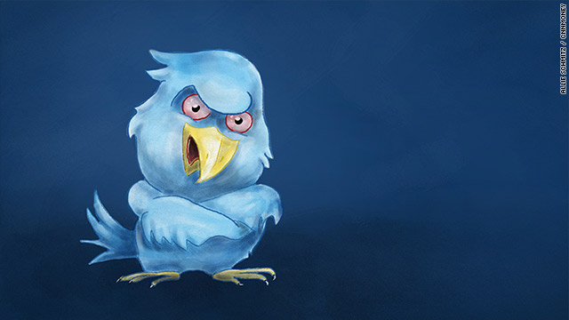 angry twitter bird folding arms