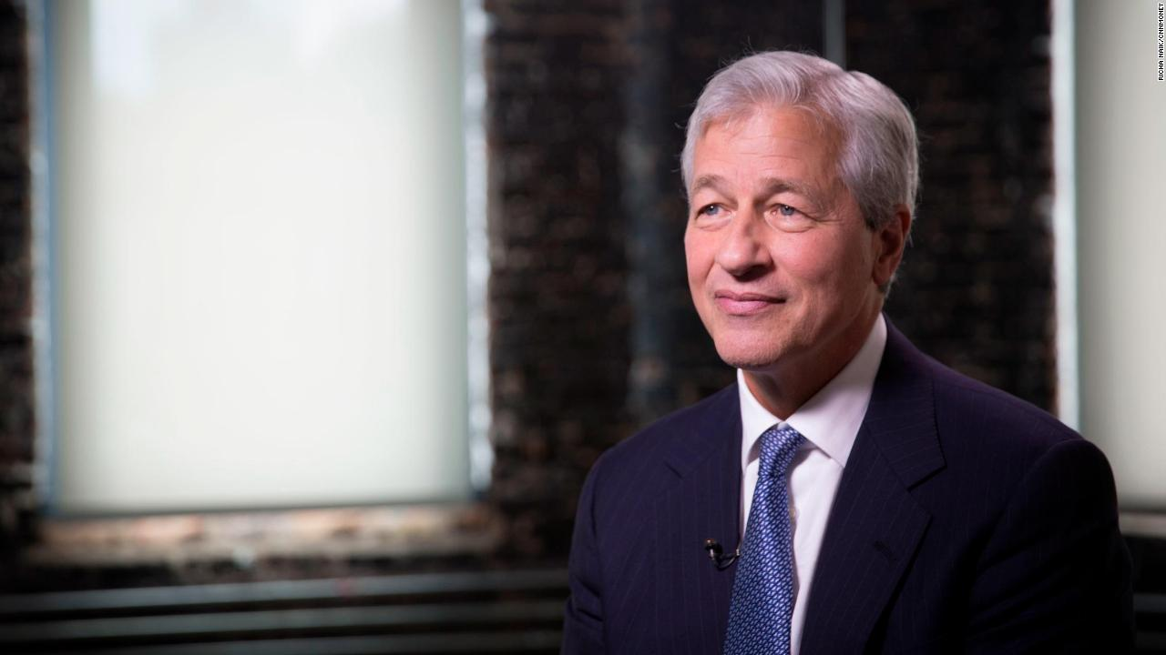 jamie dimon cnn exclusive tight