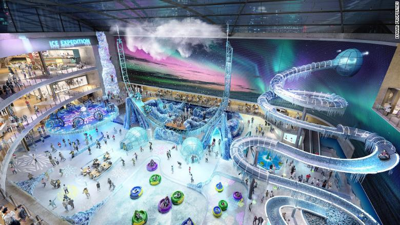 dubai square ice adventure park