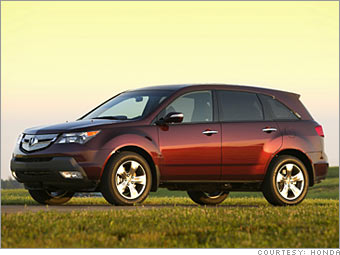 Best Resale Value Cars By Type Acura MDX CNNMoneycom - Best tires for acura mdx