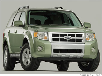 cost effective hybrids ford escape hybrid  cnnmoneycom