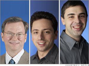 Eric Schmidt, Larry Page, Sergey Brin