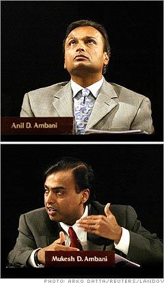 Mukesh Ambani, Anil Ambani