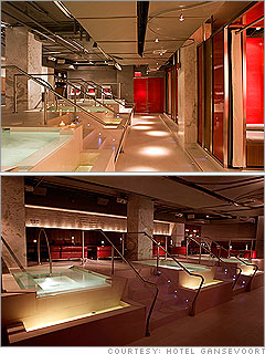 G Spa Lounge at the Hotel Gansevoort in New York