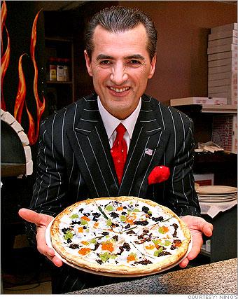 Nino's pizza with caviar