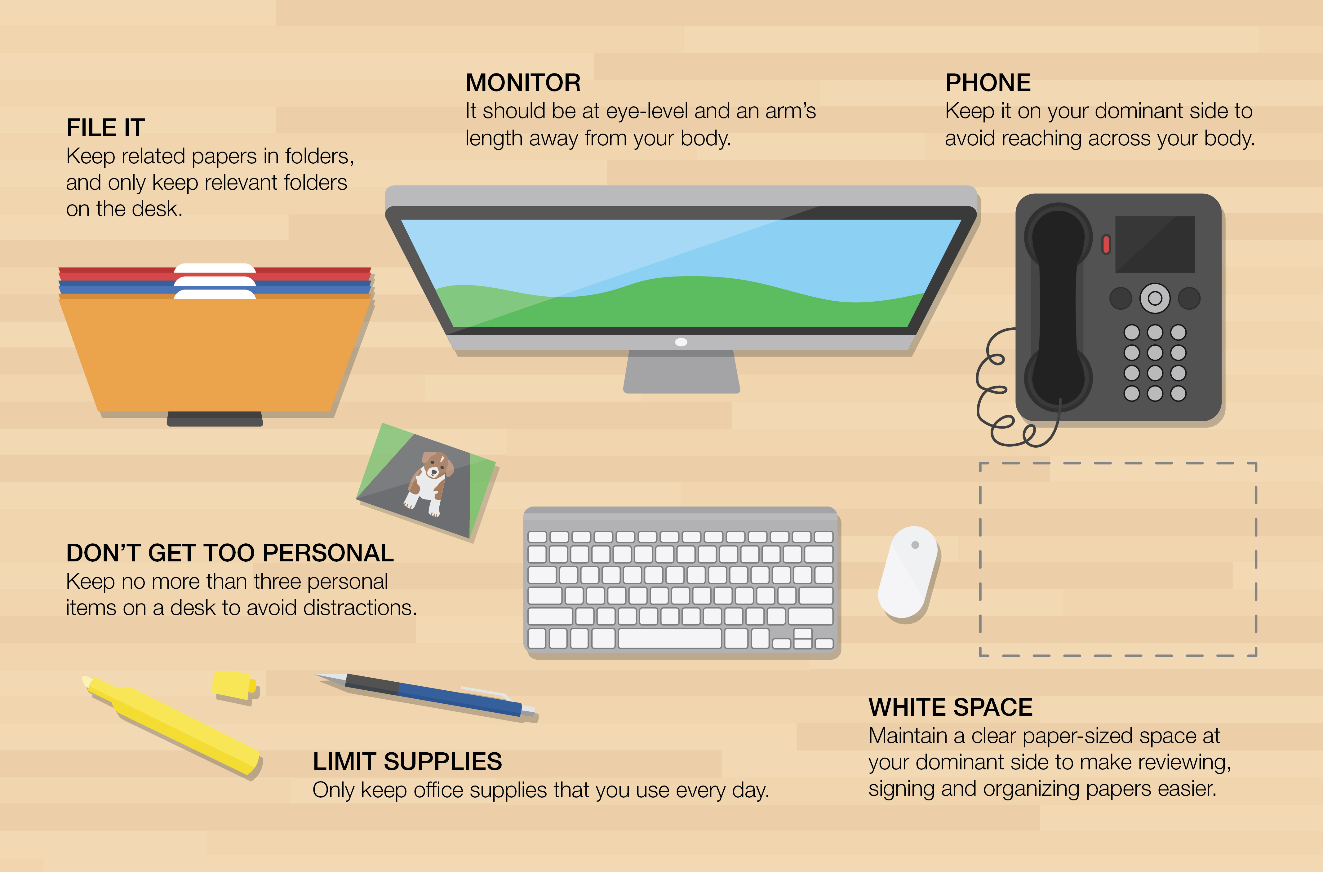 organize office desk. Organize Office. Office ) Desk A