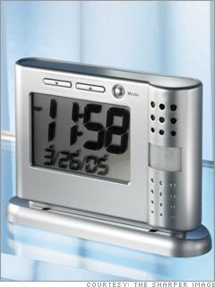 Secret security camcorder hidden in a clock