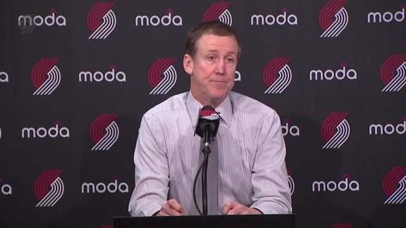 Stotts: '[Nurkić] Had 19 and 17 ... He Got All That With Hard Work'