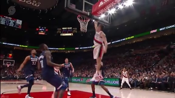 Every Highlight Reel Dunk from the Trail Blazers Win Over Minnesota