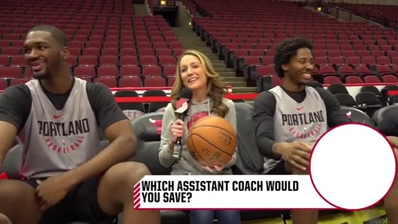 Ed Davis and Noah Vonleh Answer Tough Questions on 'Pass the Ball'