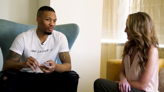 Damian Lillard Talks About His All-Star Experience With Brooke Olzendam
