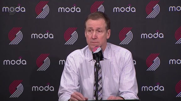 Stotts: 'Zach [Collins] Has Continued to Improve'