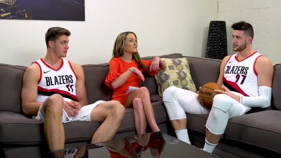 Jusuf Nurkic and Meyers Leonard Answer Uncomfortable Questions in