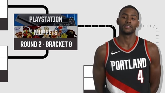 Maurice Harkless Does The Bracket Challenge