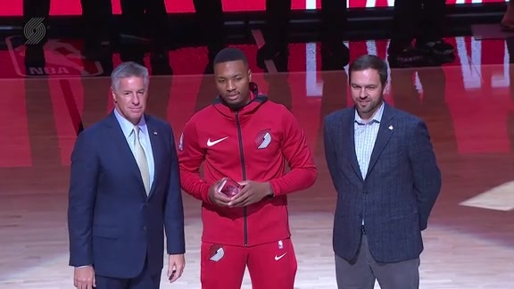 Damian Lillard Presented With 2017-18 First Team All-NBA Award