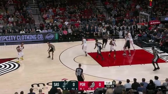 Lillard Drains Three From The Logo