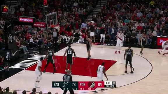 McCollum Shakes The Spurs Off A Defender With Crossover