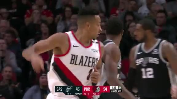 CJ McCollum (24 points) Highlights vs. San Antonio Spurs