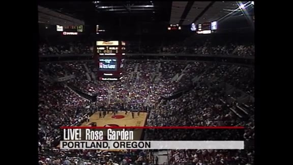 Throwback: First Game at the Rose Garden Arena