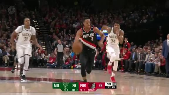 CJ McCollum Highlights (40 points) vs. Milwaukee Bucks