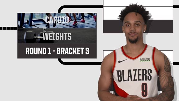 Gary Trent Jr. Does the Bracket Challenge