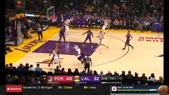 Highlights: Portland 117, LA Lakers 126