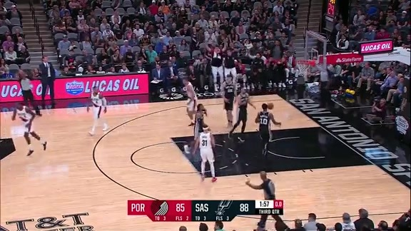 Highlights: Portland 118, San Antonio 131
