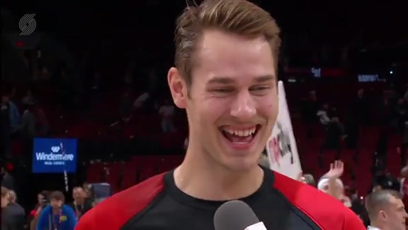 Jake Layman Gets the Walkoff Interview After Career Game