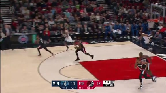 Nurkic Block Turns Into Aminu Dunk